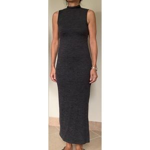 French Connection Charcoal Grey Maxi Dress Size S